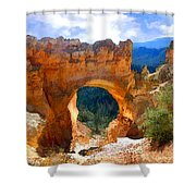 Natural Bridge Arch In Bryce Canyon National Park Shower Curtain