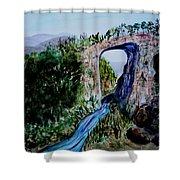 Natural Bridge In Virginia Shower Curtain