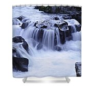 Natural Bridges Falls 01 Shower Curtain