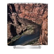 Natural Colorado River Page Arizona  Shower Curtain