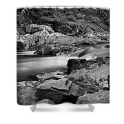 Natural Contrast Black And White Shower Curtain