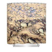 Natural Dishevelment On The Beach, Ireland Shower Curtain