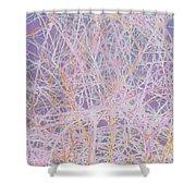 Natural Drip Art 3 Shower Curtain