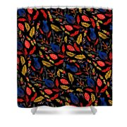 Natural Floral Pattern Shower Curtain