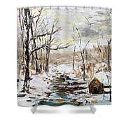 Natural Forest Shower Curtain
