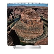 Natural Horseshoe Bend Arizona  Shower Curtain