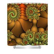 Natural Jewels Shower Curtain
