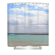 Natural Landscape With The Ocean From An Island In Maldives Shower Curtain