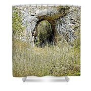 Natural Limestone Arch At Dove Valley Shower Curtain
