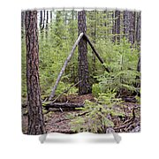 Natural Peace In The Woods Shower Curtain