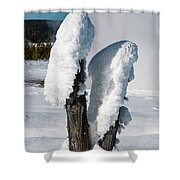 Natural Popsicles Shower Curtain