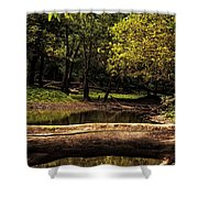 Natural Seating By River Shower Curtain