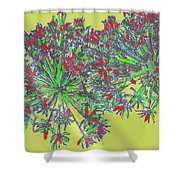 Natural Spiral Shower Curtain