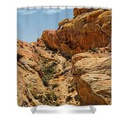 Natural Staircase Valley Of Fire Shower Curtain