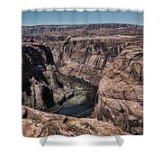 Natural View Colorado River Page Arizona  Shower Curtain