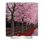 Nature - Pink Trees Shower Curtain
