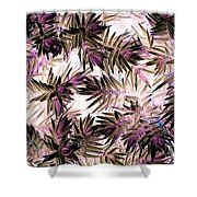 Nature Abstract In Pink And Brown Shower Curtain