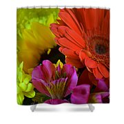 Nature Colorful Bouquet Shower Curtain