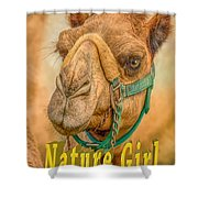 Nature Girl Camel Shower Curtain