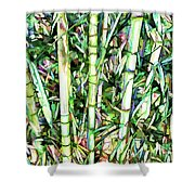 Nature Green Background Shower Curtain