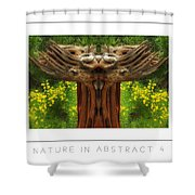 Nature In Abstract 4 Poster Shower Curtain