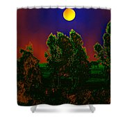 Nature In Full Moon  Shower Curtain