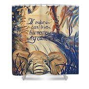 Nature In Harmony Shower Curtain