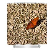 Nature In The Wild - A Splash Of Color On The Rocks Shower Curtain