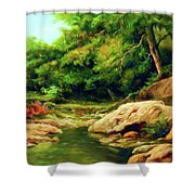 Nature Is Beautiful Impressionism Shower Curtain