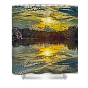 Nature Landscapes Around Lake Wylie South Carolina Shower Curtain