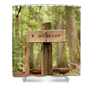 Nature Loop Sign Shower Curtain