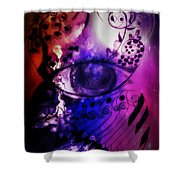 Nature N Music Abstract Shower Curtain