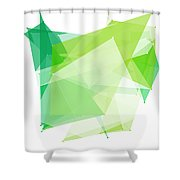 Nature Polygon Pattern Shower Curtain