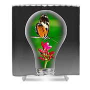 Nature Power Bulb. Shower Curtain