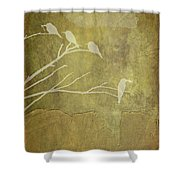 Nature Study In Gold  Shower Curtain