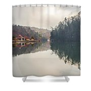 Nature Views Near Chimney Rock And Lake Lure Shower Curtain