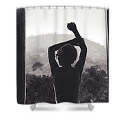 Nature Window. Shower Curtain