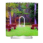 Nature's Chapel  Shower Curtain