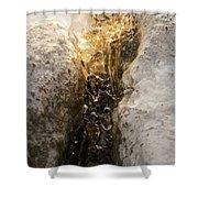 Natures Creativity - Golden Crevasse Shower Curtain