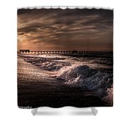 Natures Drama  Shower Curtain by Kim Loftis