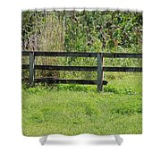 Natures Fence Shower Curtain