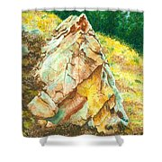 Nature's Granite Sculpture Shower Curtain