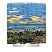 Nature's Playful Palette Shower Curtain
