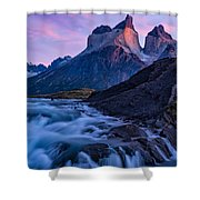 Nature's Sunrise Canvas Shower Curtain