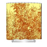 Natures Trees In Brown And Yellow Shower Curtain