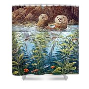 Natures Union At Monterey Robert Lyn Nelson Shower Curtain