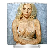 Naughty Scarlett Nude Shower Curtain