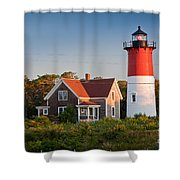 Nauset Beach Light Shower Curtain