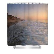 Nauset Light On The Shoreline Of Nauset Shower Curtain