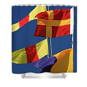 Nautical Banners Shower Curtain